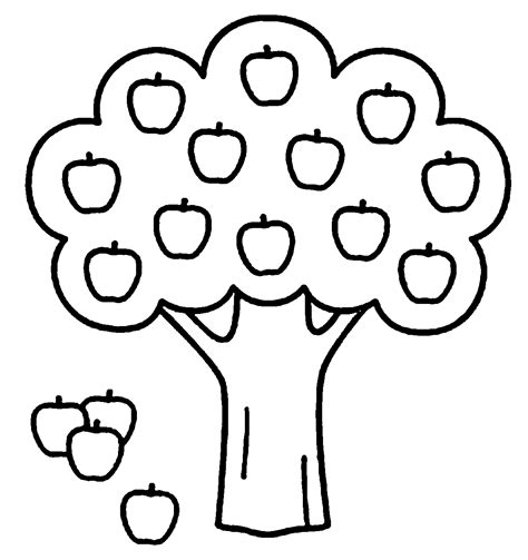 tree color in apple tree coloring pages wecoloringpage