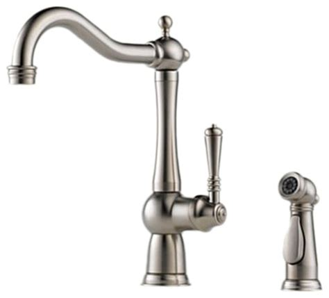 traditional kitchen faucet brizo 61136lf ss tresa stainless steel kitchen faucet with