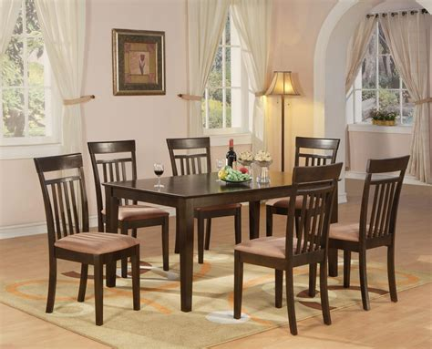 kitchen tables and benches dining sets 7 pc dining room dinette kitchen set table and 6 chairs ebay