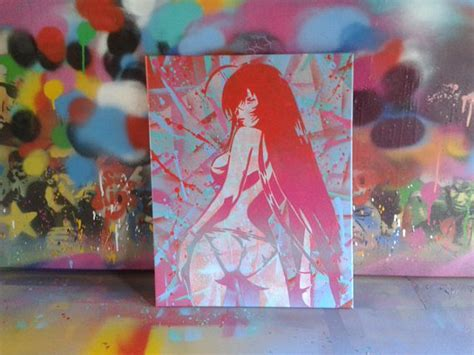 japanese spray paint paintingstencil artspray paint by abstractgraffitishop