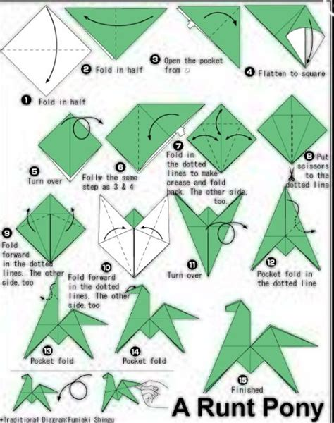 origami things to make how to make an origami runt pony origami