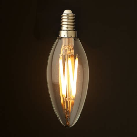 dimmable led light 4 watt dimmable filament led e14 candle bulb