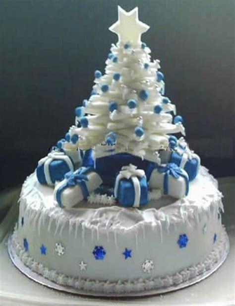 cake tree decorations festive cake decoration with trees the