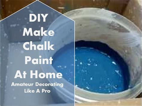 diy chalk paint thick chalk paint the ingredients are water paint and