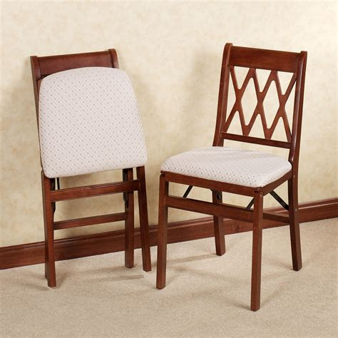 dining room folding chairs lattice back folding chair pair