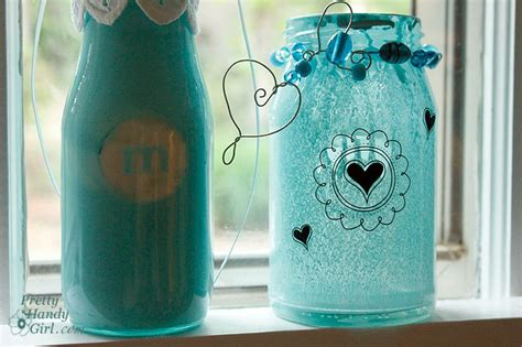 spray painting glass jars spray painted glass jars and bottles pretty handy