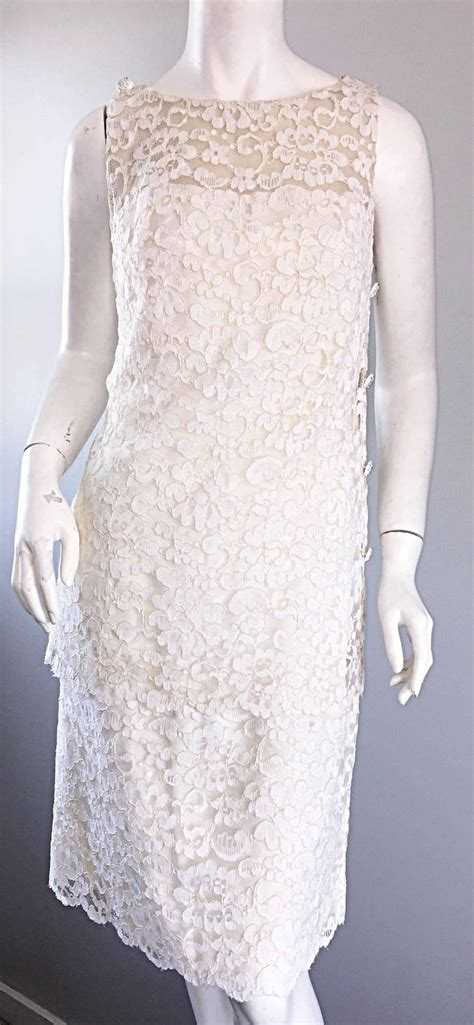 lace rhinestones and such howard vintage white lace 1960s 60s rhinestone