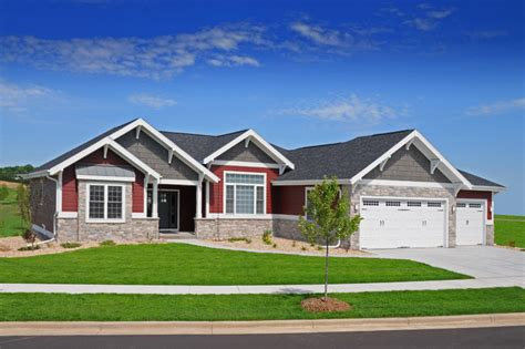 craftsman style ranch homes craftsman ranch style brio design homes custom home