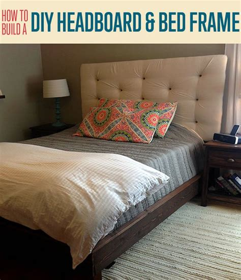 upholstered bed frame and headboard how to build a headboard and bed frame diy projects craft