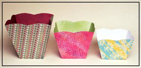 origami popcorn box paper popcorn and scrapbook on