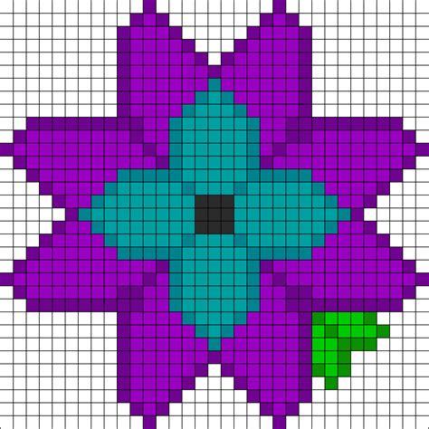 perler bead flower patterns pretty flower perler bead pattern bead sprites