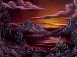 bob ross painting on black canvas bob ross painting packet landscape alaskan summer on popscreen