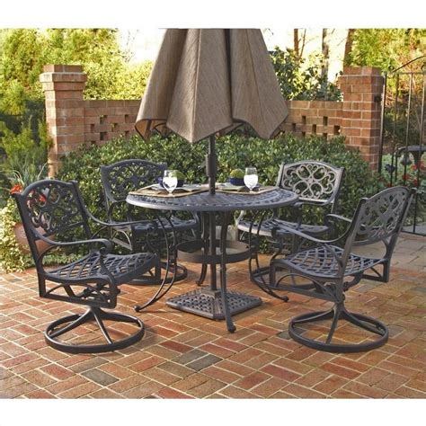 metal patio dining sets 5 metal patio dining set in black 5554 325