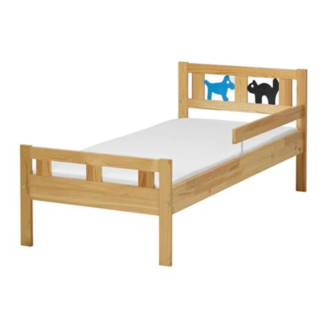ikea toddler to bed kritter bed frame and guard rail pine 70x160 cm ikea