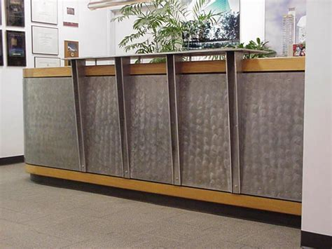 metal reception desk reception desk with metal front search office