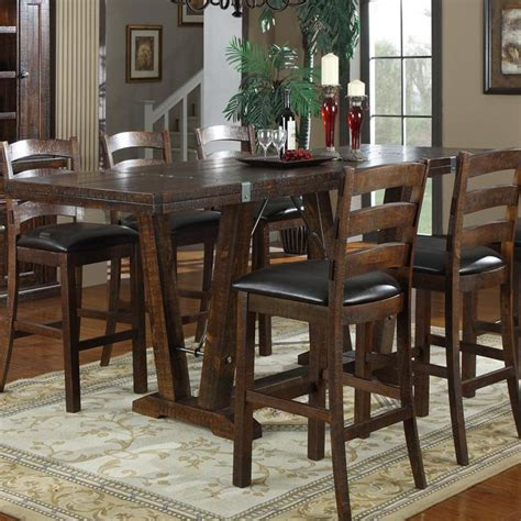 bar height dining table emerald home castlegate 42 in bar height trestle table
