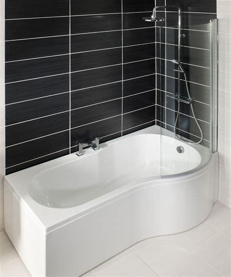right shower bath p shape shower bath right hand1700 includes glass shower