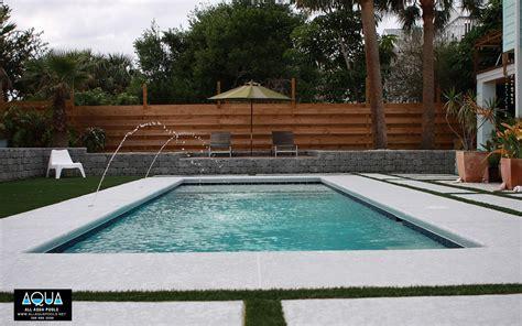 modern backyard modern pool with deck jets all aqua pools