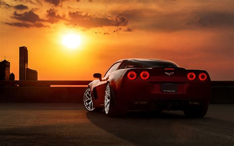 Car Sunset Wallpaper by Amazing Concept Car In Sunset 4k Ultra Hd Backgrounds