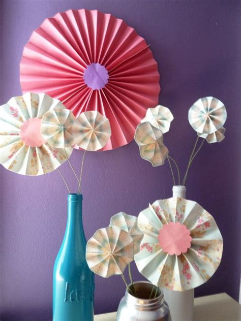 origami centerpiece accordion origami paper flower centerpiece decoration