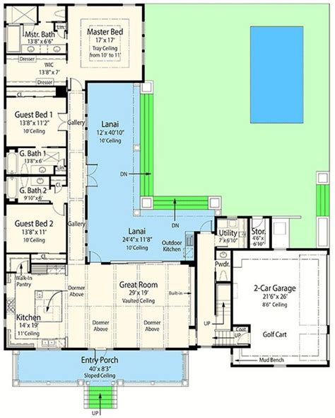 lanai house plans one story house plans with lanai house design ideas