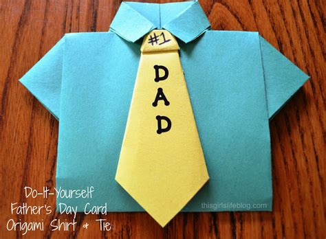 origami shirt with tie s day card diy origami shirt tie