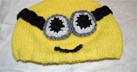 free knitted minion hat pattern katiedid crafts free patterns