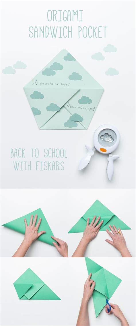 back to school origami back to school origami sandwich pocket back to school