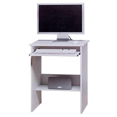 white office desk furniture white wooden computer table sliding keyboard shelf