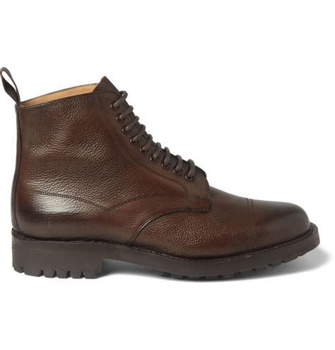 grain leather shoes cheaney richmond pebble grain leather boots in brown for