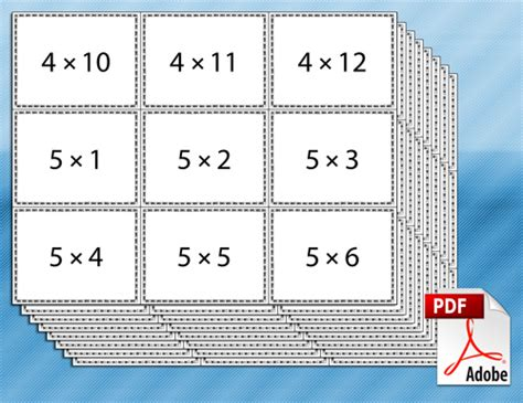 how to make multiplication flash cards free printable multiplication flash cards for math