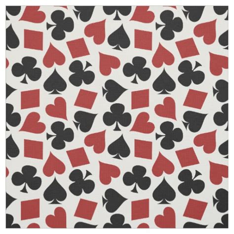 pattern card card suit pattern fabric zazzle