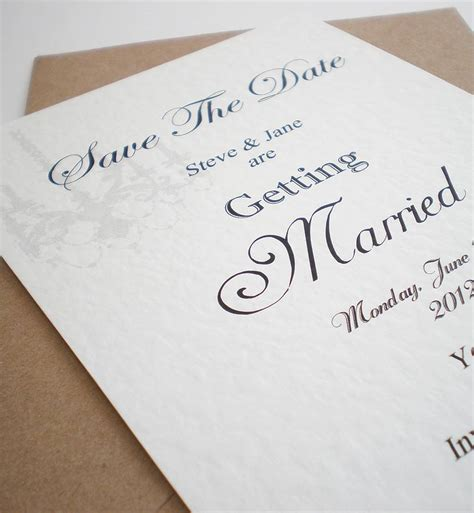 how to make a save the date card handmade save the date card by edgeinspired