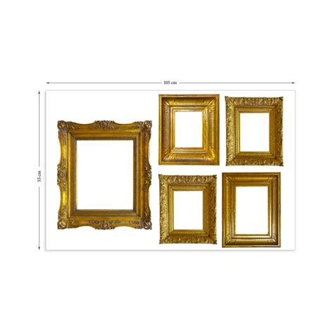 Photo Frame Wall Stickers gold photo frames wall stickers by the binary box
