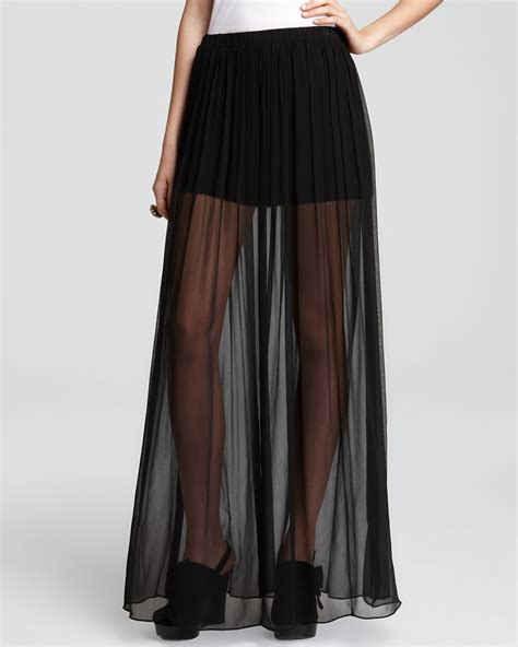 Alexis Maxi Skirt   Caitlin Sheer   Bloomingdale's