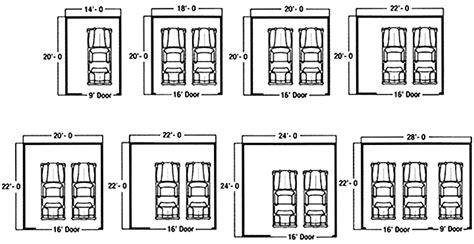 typical garage size standard garage dimensions search