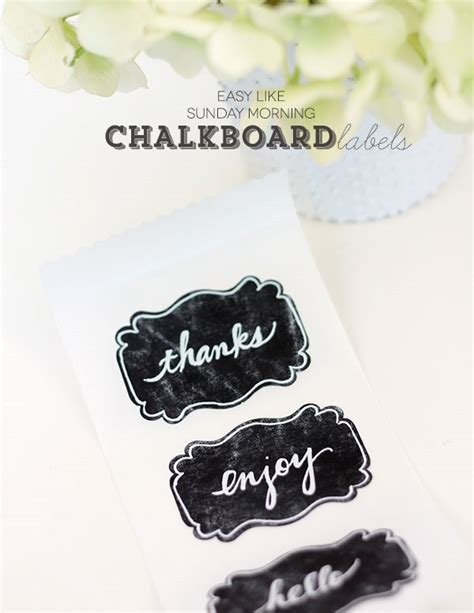 diy chalkboard labels 25 simple creative diy gift wrap ideas day 13 of 31