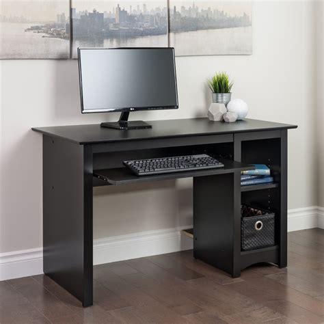 small computer desk black small wood laminate computer desk in black bdd 2948