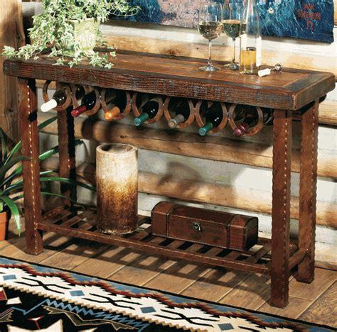 western decor western furniture horseshoe wine rack table lone