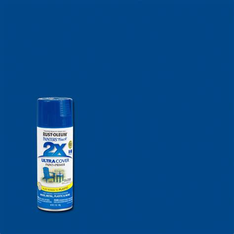home depot spray paint blue rust oleum painter s touch 2x 12 oz brilliant blue gloss