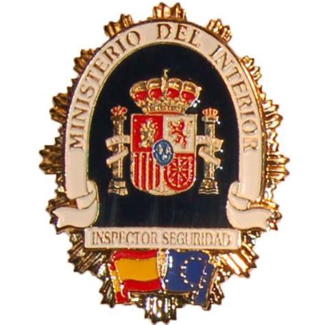 ministerio del interior seguridad privada placa metalica ministerio del interior inspector de seguridad