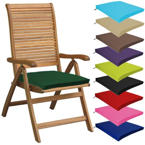 patio chair seat pads multipacks outdoor waterproof chair pads cushions only garden patio furniture ebay