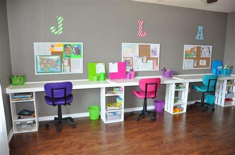 school desks for home top homeschool room ideas organized homeschool