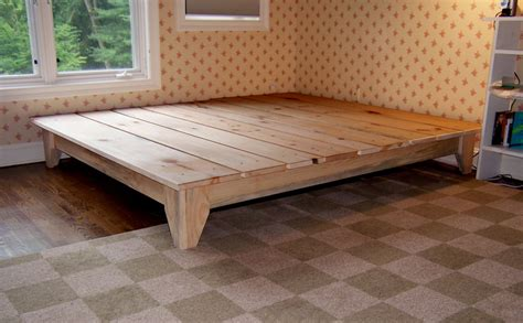 built in bed frame how to build a platform bed frame