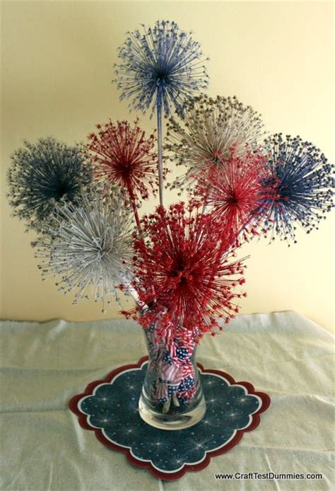 spray paint fireworks allium fireworks centerpiece home and garden