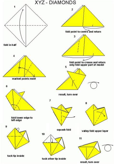 xyz origami francis ow s origami diagrams xyz diamonds modular modular