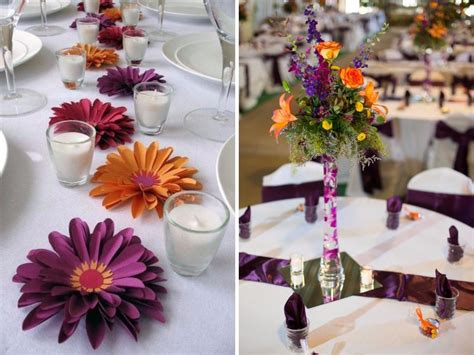 orange and purple decorating ideas 20 orange and purple wedding ideas everafterguide