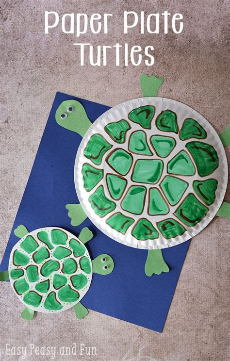 craft with paper plate paper plate turtle craft easy peasy and