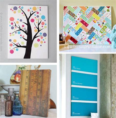 canvas craft ideas for diy canvas wall ideas 30 canvas tutorials