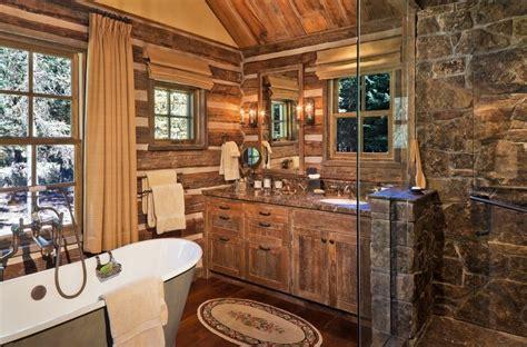 Log Home Bathroom Ideas by Rustic Log Cabin Bathroom Decor Bathroom Decor Ideas